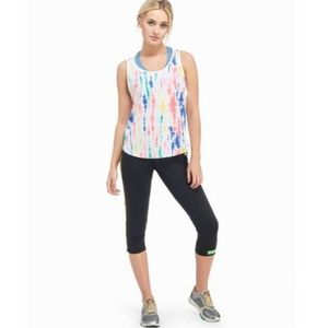 Adidas x STELLASPORT tie dye athletic tank top L